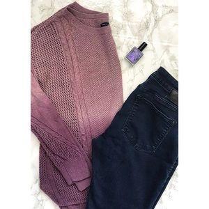 AE Purple Ombré Crew Neck Sweater